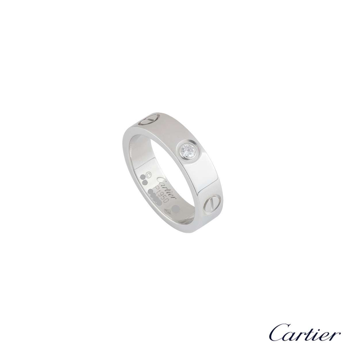 Cartier Platinum Diamond Love Ring B4046757